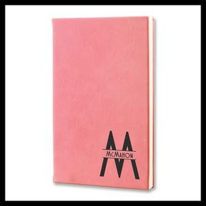 Leatherette Personal Journal Notepad, Pink